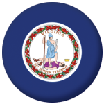 Virginia State Flag 58mm Mirror Keyring